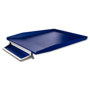 Odkladač s přihrádkou na pero Leitz Style - titanově modrý
