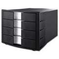 Box zásuvkový HAN - 4 zásuvky, černá