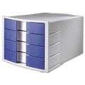 Zásuvkový box HAN - 4 zásuvky, modrý