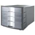 Box zásuvkový HAN - 4 zásuvky, šedá