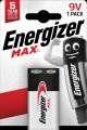 Alkalické baterie Energizer Max 9 V, 1 ks