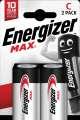 Alkalické baterie Energizer Max - 1,5 V, typ C, 2 ks
