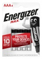 Alkalické baterie Energizer Max - 1,5 V, typ AAA, 4 ks
