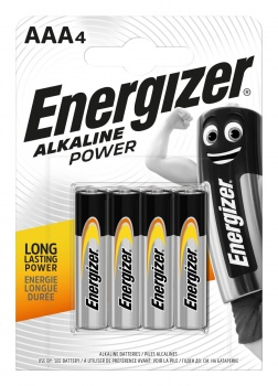 Alkalické baterie Energizer Power - 1,5 V, typ AAA, 4 ks