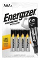 Alkalické baterie Energizer Power - 1,5V, LR03, typ AAA, 4 ks