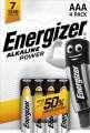 Alkalické baterie Energizer Power 1,5V typ AAA 4ks