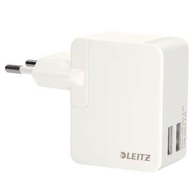 Univerzální USB nabíječka - 12 W, 2 porty, bílá