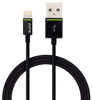 Kabel Leitz Complete Lightning na USB - 1 m, černý