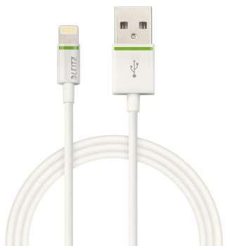 Kabel Leitz Complete Lightning na USB - 1 m, bílý