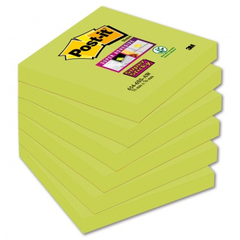 Bločky Post-it Super Sticky - chřestové, 76,0 x 76,0mm