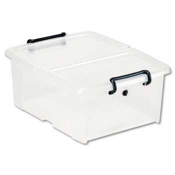 Plastový box  Strata - přední otevírání, transparentní, 20 l
