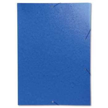 Desky s chlopněmi a gumičkou - A3, modrá