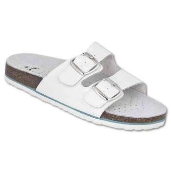 Korkové pantofle MARS - bílé, vel.39