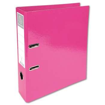 Plastový pákový pořadač Iderama - A4, růžový