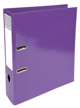Plastový pákový pořadač Iderama - A4, purpurový