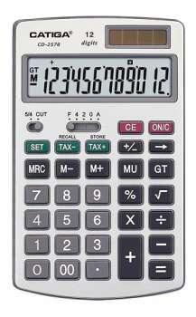 Stolní kalkulačka Catiga CD-2578 - šedá