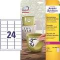 Vodovzdorné etikety - odnímatelné, bílé, 63,5 x 33,9mm, 480 ks