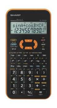 Vědecká kalkulačka Sharp EL-W531XH - oranžová