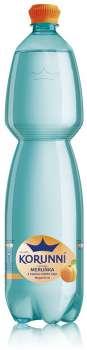 Ochucená voda Korunní - meruňka s bílým čajem, 6 x 1,5 l