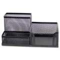 Drátěná krabička na lístky a tužky - černá