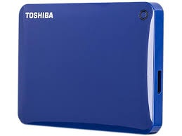 "Harddisk Toshiba Canvio Connect 2.5"" - 1 TB, modrý"