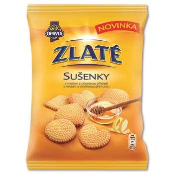 Sušenky Zlaté - medové s citronem, 180 g