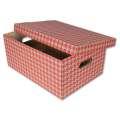 Dekorativní krabice, 32 x 20 x 44 cm, červená  tisk, 2 ks