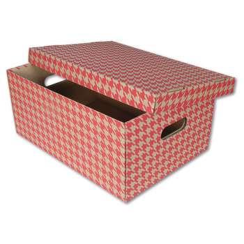 Dekorativní krabice, 32 x 20 x 44 cm, červený tisk, 2 ks