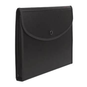 Aktovka Exafolio - A4, 6 přihrádek, černá