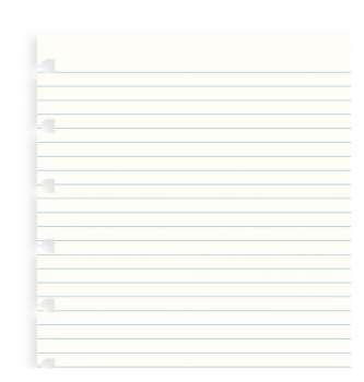 Náhradní listy do Filofax Notebook - A5 linkované