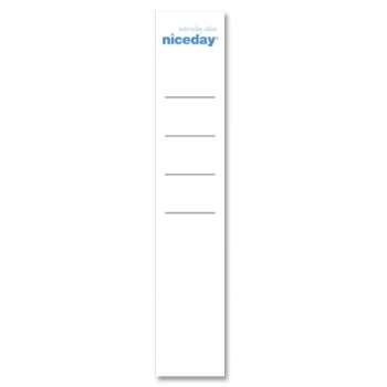 Etikety pro pákové pořadače Niceday - 5,0 cm, 20 ks