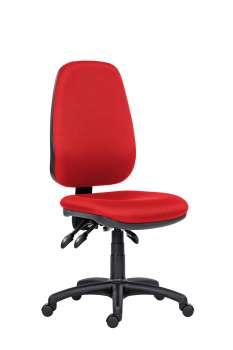 Kancelářská židle 1540 Asyn - bez područek, červená