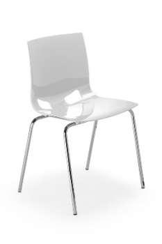 Jídelní židle Fondo - bílá
