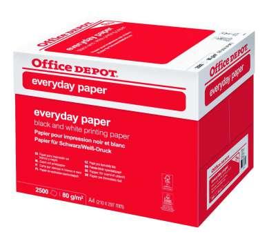 Kancelářský papír Office Depot Everyday A4 - 80 g/m2, box 2500 listů