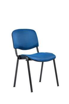 Konferenční židle ISO N - modrá, kostra černá