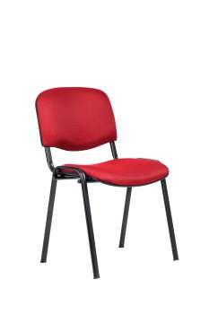 Konferenční židle ISO N - červená, kostra černá