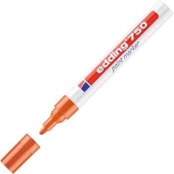 Lakový popisovač Edding 750 - oranžový