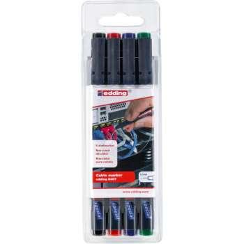 Popisovač na kabely Edding 8407 - sada 4 barev