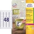 Vodovzdorné etikety - odnímatelné, bílé, 45,7 x 21,2 mm, 960 ks