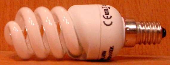 Úsporná žárovka 9W/E14