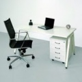 Psací stůl Intebo AMPLA 1600, bílá