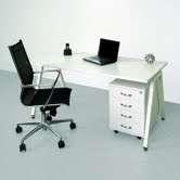 Psací stůl Intebo AMPLA 1800, bílá