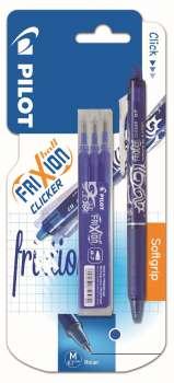 Gelový roller Frixion Clicker modrá + 3 náplně