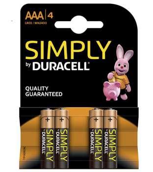Sada baterií Duracell AAA (bal. 4ks)