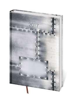 Týdenní diář 2017 A5 Vario - Steel