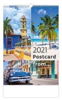 Nástěnný kalendář 2018 Postcard from ...