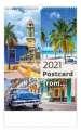 Nástěnný kalendář 2021 Postcard from....