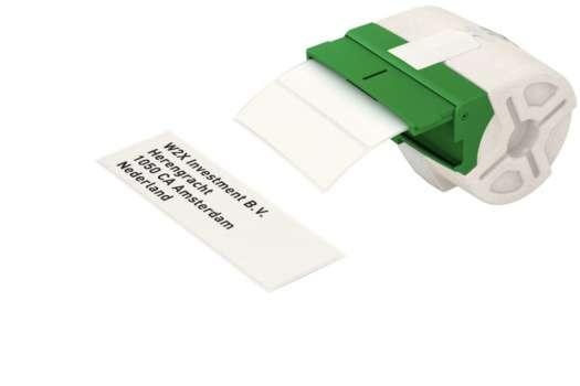 Samolepicí papírové štítky Leitz Icon - bílá, 28 x 88 mm, černé písmo, 690 ks
