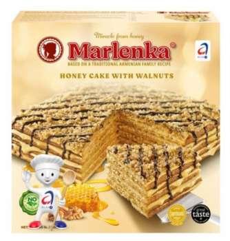 DÁREK: Medový dort MARLENKA s oříšky ZDARMA
