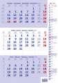 Tříměsíční kalendář 2022 - poznámkový, modrý